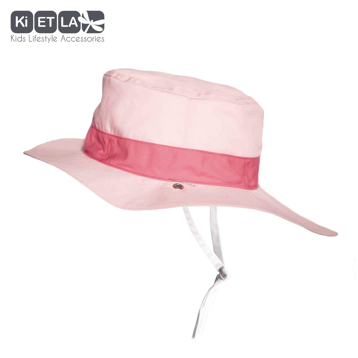 ec6ab9798907 KiETLA obojstranný klobúčik s UV ochranou- panama pink- 2-4roky