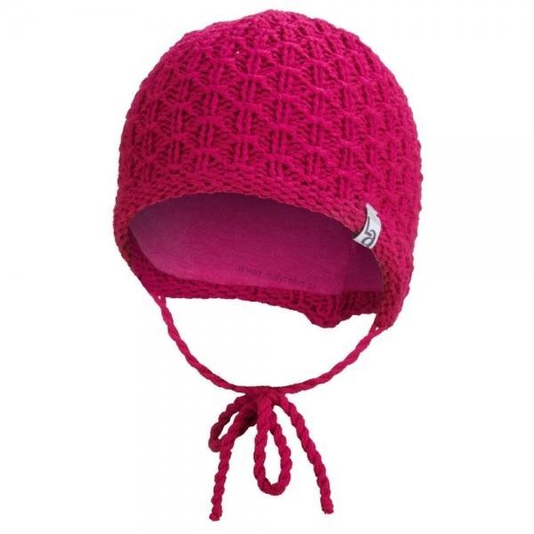 0b0785958 Čiapka pletená zaväzovacia ANGEL - Outlast®, ružová- 39-41cm