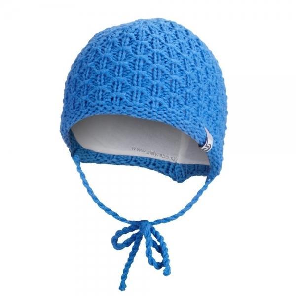 4a0324ae0 Čiapka pletená zaväzovacia ANGEL - Outlast®, modrá - 39-41cm