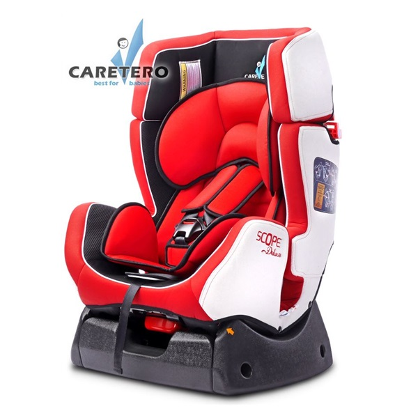 Autosedačka CARETERO Scope DELUXE red 2016