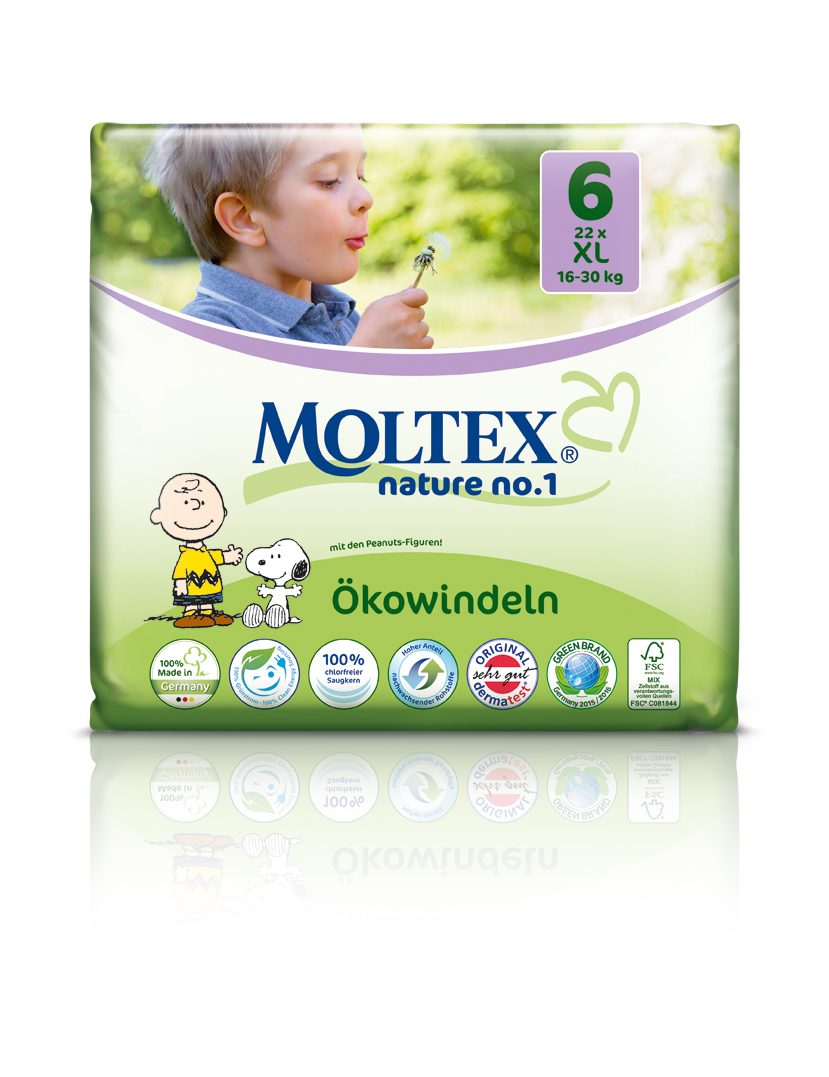 MOLTEX ekoplienky NO 1 XL 16-30kg 22ks