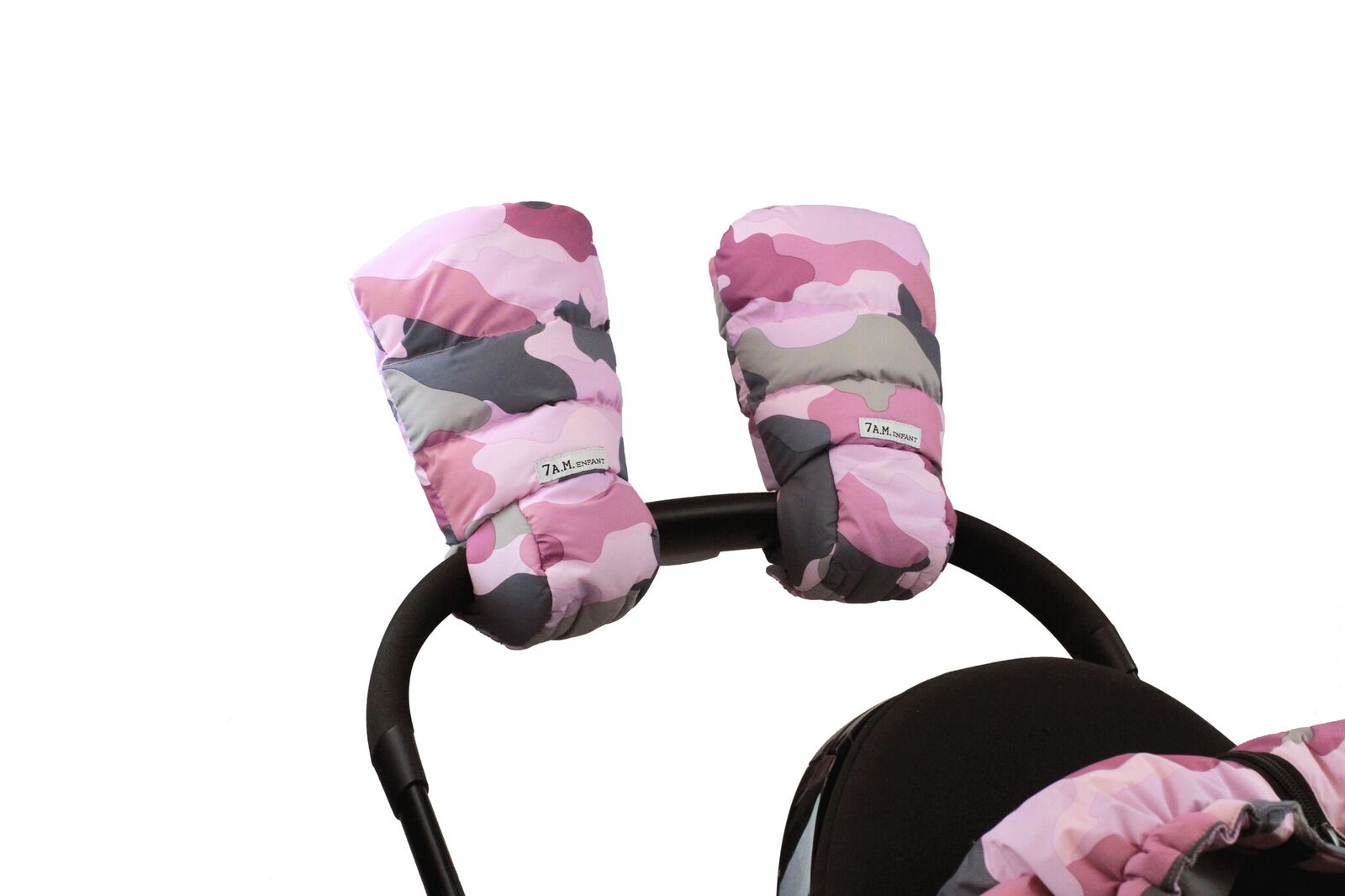 7AM Enfant WarMMuffs rukavice na kočík Camo Pink