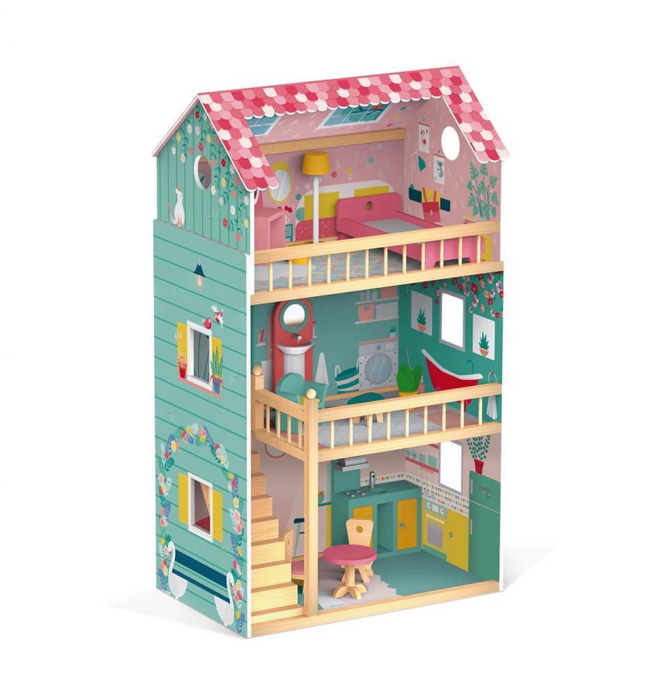 f496f8a06 Happy Day Drevený domček pre bábiky Barbie Janod empty