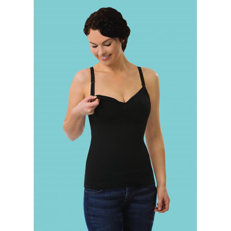 44682b83197e Carriwell - košielka bezšvová bavlnená s sťahovacie s klipom na kojenie-  čierna empty