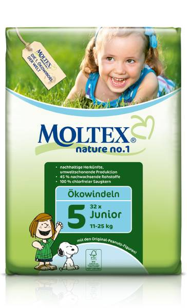 MOLTEX ekoplienky  Junior 11-25kg 26ks