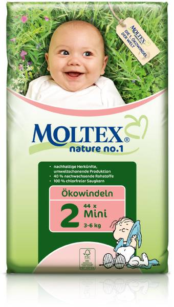 MOLTEX ekoplienky Mini 3-6kg 42ks